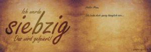 Geburtstagseinladung Grunge 2 70.Geburtstag