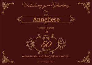 Geburtstagseinladung Ornamental 50.Geburtstag