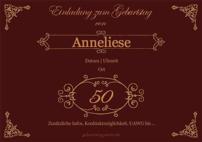 L 50 Geburtstag Einladung Gratis Vorlagen Für Karten Texte