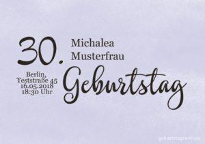 Geburtstagseinladung Wolkig 30.Geburtstag