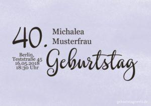 Geburtstagseinladung Wolkig 40.Geburtstag