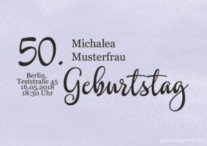 Geburtstagseinladung Wolkig 50.Geburtstag