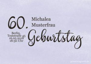 Geburtstagseinladung Wolkig 60.Geburtstag
