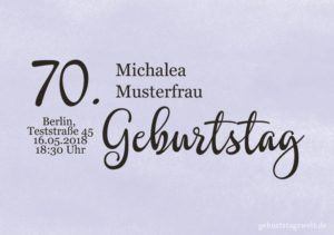 Geburtstagseinladung Wolkig 70.Geburtstag