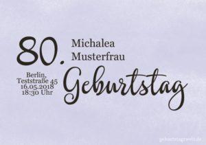 Geburtstagseinladung Wolkig 80.Geburtstag