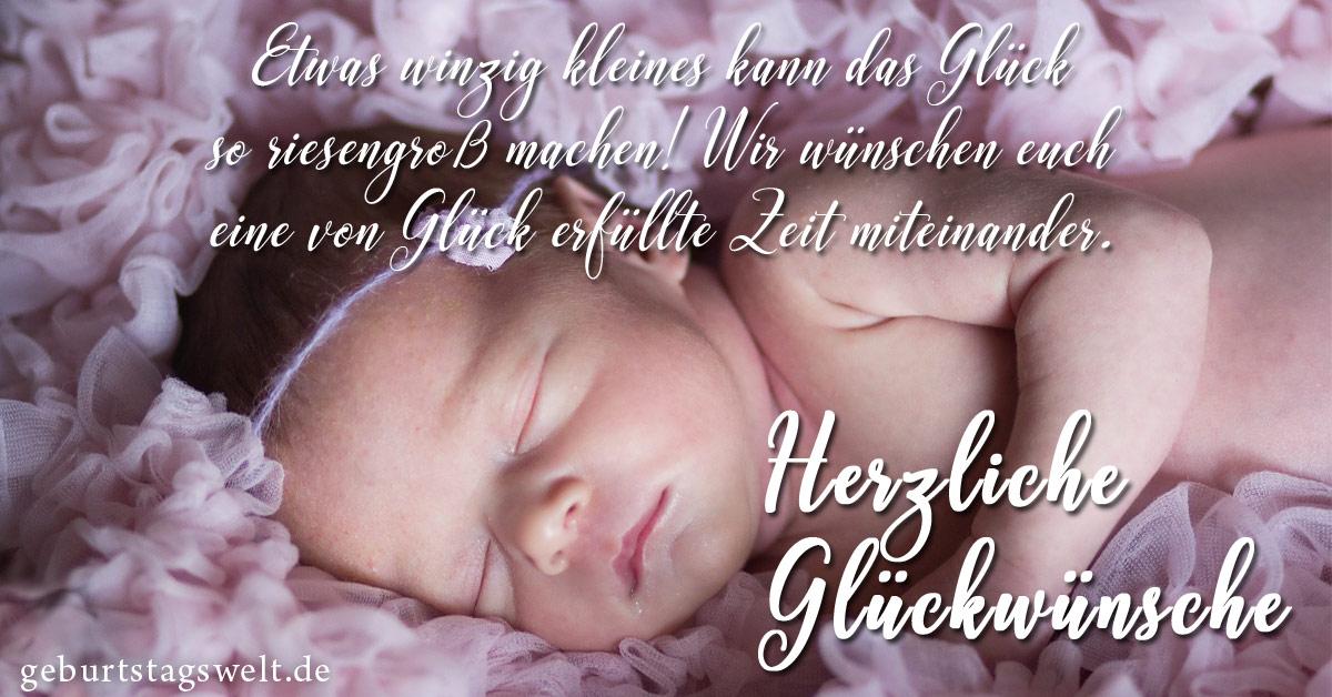 Gluckwunsch zur geburt eures babys
