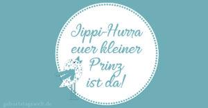 Jippi-Hurra euer kleiner Prinz ist da!