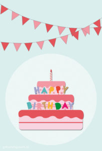 geburtstagskarte-happy-birthday-cake-girlande-rosa