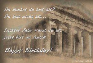 Lustige Geburtstagskarte - Letztes Jahr warst du alt