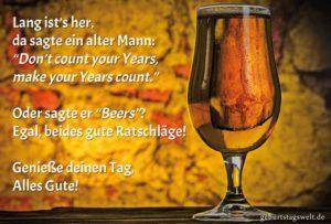 Lustige Geburtstagskarte - Make Your Beers count!