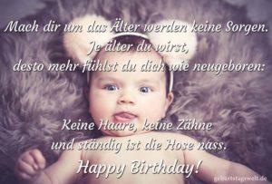 Lustige Geburtstagskarte - Wie neugeboren!