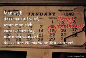 Lustige Geburtstagskarte - Man weiß, dass man alt wird...