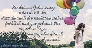 Zu deinem Geburtstag wünsch ich dir