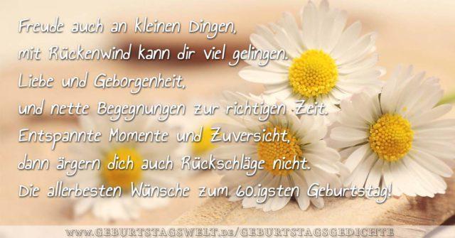 Gedicht Geburtstag Sprüche Zitate Und Gedichte Zum 60