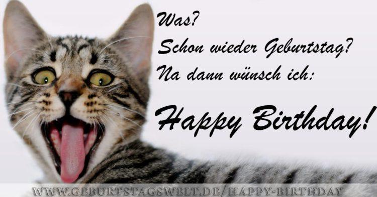 Was? Schon wieder Geburtstag? ... Happy Birthday Bild