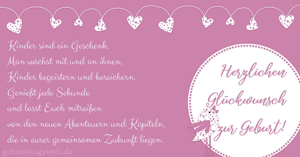 Beliebt Bevorzugt llᐅ Glückwünsche zur Geburt - Mit Wünschen & Gedichten neues &GK_49