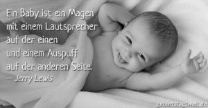 Ein Baby ist ein Magen mit einem Lautsprecher