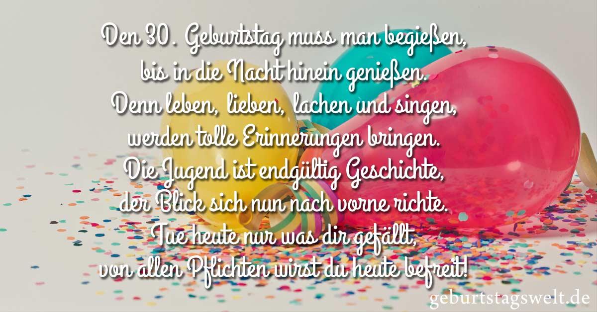 ᐅ Sprüche Zum 30 Geburtstag Herzliche Und Lustige